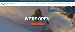 Grand Targhee Ski Resort is Open!